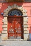 Palazzo storico Brienza La Basilicata L'Italia Fotografie Stock Libere da Diritti