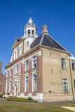 Palazzo storico Crackstate nel centro di Heerenveen Immagine Stock Libera da Diritti