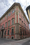 Palazzo storico dell'Emilia Romagna. L'Italia. Fotografia Stock