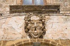 Palazzo storico di Mesagne. La Puglia. L'Italia. Fotografie Stock Libere da Diritti