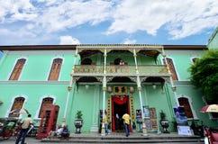 Palazzo storico di Pinang Peranakan a Georgetown, Penang fotografia stock libera da diritti