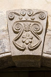 Palazzo storico. Di Puglia di Sant'Agata. L'Italia. Immagini Stock