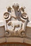 Palazzo storico. Di Puglia di Sant'Agata. L'Italia. Fotografia Stock Libera da Diritti