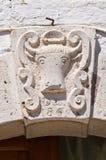 Palazzo storico. Di Puglia di Sant'Agata. L'Italia. Immagini Stock Libere da Diritti
