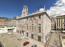 Palazzo storico di St George a Genova Fotografia Stock Libera da Diritti
