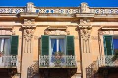 Palazzo storico Monopoli La Puglia L'Italia Fotografie Stock Libere da Diritti