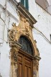 Palazzo storico Ostuni La Puglia L'Italia Immagini Stock Libere da Diritti
