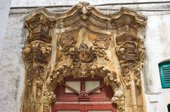 Palazzo storico Ostuni La Puglia L'Italia Fotografia Stock