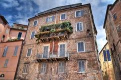 Palazzo storico. Perugia. L'Umbria. Immagine Stock