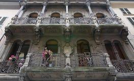 Palazzo storico Piacenza L'Emilia Romagna L'Italia Fotografia Stock Libera da Diritti