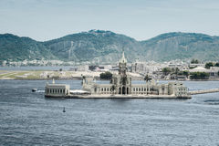 Palazzo su Ilha fiscale nel porto di Rio de Janeiro immagine stock