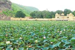 Palazzo su un bundi India del lago Fotografie Stock Libere da Diritti