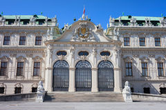 Palazzo superiore di belvedere a Vienna immagini stock