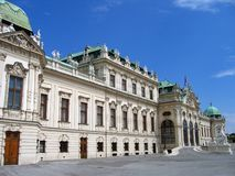Palazzo superiore di belvedere - Vienna, Austria fotografia stock libera da diritti