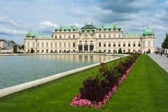 Palazzo superiore di belvedere a Vienna, Austria Fotografie Stock Libere da Diritti