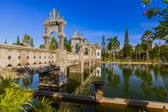 Palazzo Taman Ujung dell'acqua nell'isola Indonesia di Bali Immagini Stock Libere da Diritti