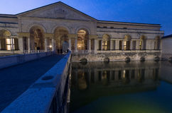 Palazzo Te in Mantua. One of the external courtyards of Palazzo Te in Mantua in the evening of the 4th january 2017 Stock Images