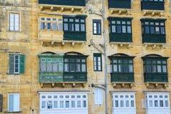 Palazzo a terrazze di Malta Immagini Stock Libere da Diritti
