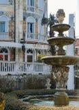Palazzo Ungheria Ausonia dell'hotel con il suo esterno altamente decorativo nel cuore dell'isola del lido Fotografia Stock Libera da Diritti