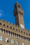 Palazzo Vecchio俯视广场della Signoria 免版税库存图片