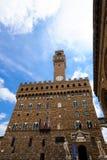 Palazzo Vecchio在佛罗伦萨 免版税库存照片