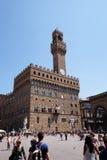 Palazzo Vecchio在佛罗伦萨 库存图片