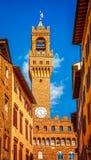 Palazzo Vecchio塔在佛罗伦萨 意大利 库存照片