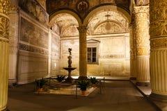Palazzo Vecchio富有的内部  库存照片