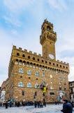 Palazzo Vecchio是佛罗伦萨,意大利城镇厅  库存图片