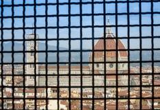 从Palazzo Vecchio的Il中央寺院 图库摄影