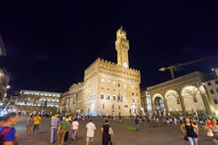 Palazzo Vecchio罗马式堡垒宫殿 库存照片