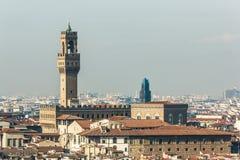 Palazzo Vecchio视图 免版税库存照片