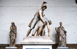 Palazzo Vecchio雕象佛罗伦萨意大利 免版税库存照片