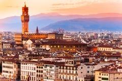Palazzo Vecchio,佛罗伦萨。 图库摄影