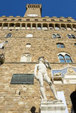 Palazzo Vecchio,佛罗伦萨城镇厅意大利的 库存图片