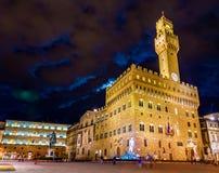 Palazzo Vecchio,佛罗伦萨城镇厅  库存照片