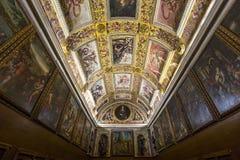 Palazzo Vecchio,佛罗伦萨,意大利内部  库存照片