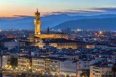 Palazzo Vecchio,佛罗伦萨,意大利看法  免版税库存图片
