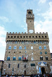 Palazzo Vecchio,城镇厅在佛罗伦萨,意大利 免版税库存照片