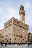 Palazzo Vecchio,城镇厅在佛罗伦萨,意大利 库存图片