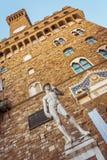 Palazzo Vecchio и статуя Дэвида Стоковые Фото