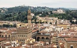 Palazzo Vecchio (старый дворец) в историческом городе Флоренсе, Италии Стоковые Изображения