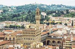Palazzo Vecchio (старый дворец), Флоренс, Италия, вашгерд ren Стоковая Фотография