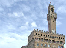 Palazzo Vecchio. Old Palace - Florence - Italy, the tower Royalty Free Stock Photos