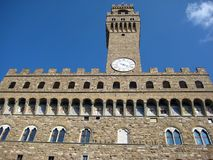 Palazzo Vecchio. Important old historic palace in the centre of Florence (Italy Royalty Free Stock Images
