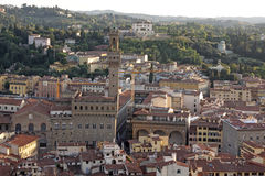 Palazzo Vecchio from Above Royalty Free Stock Photography