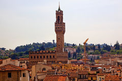 Palazzo Vecchio Arnolfo Tower Florence Rooftops Stock Photos