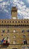 Palazzo Vecchio Below Shot. Below shot of Palazzo Veccio located in Florence, Italy Royalty Free Stock Photos