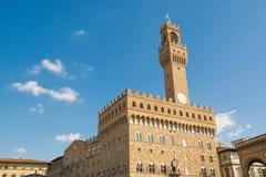 Palazzo Vecchio in della Signoria della piazza a Firenze Immagini Stock Libere da Diritti