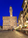 Palazzo Vecchio at dusk, Florence Royalty Free Stock Photo